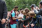 29.07.2017, Heinz-Dettmer-Stadion, Lohne, GER, FSP, SV Werder Bremen vs West Ham United<br /> <br /> im Bild<br /> Marko Arnautovic (West Ham #18) gibt Autogramme / Marko Arnautovic (West Ham #18) signing autographs, <br /> <br /> Foto © nordphoto / Ewert