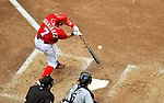 28 May 2011: Washington Nationals catcher Ivan Rodriguez in action against the San Diego Padres at Nationals Park in Washington, District of Columbia. The Padres defeated the Nationals 2-1 to even their 3-game series. Mandatory Credit: Ed Wolfstein Photo