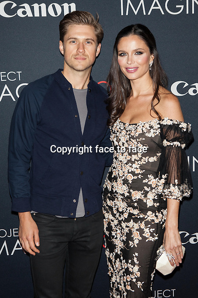 NEW YORK, NY - OCTOBER 24, 2013: Aaron Tveit and Georgina Chapman attend the Premiere Of Canon's Project Imaginat10n Film Festival at Alice Tully Hall on October 24, 2013 in New York City. <br /> Credit: MediaPunch/face to face<br /> - Germany, Austria, Switzerland, Eastern Europe, Australia, UK, USA, Taiwan, Singapore, China, Malaysia, Thailand, Sweden, Estonia, Latvia and Lithuania rights only -