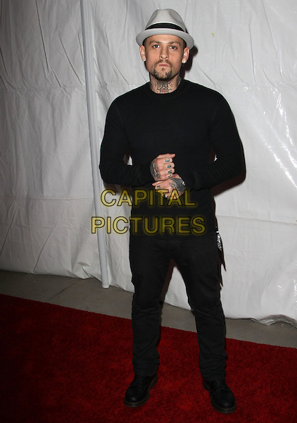 JOEL MADDEN.E! Oscar Viewing And After Party held At Drai's at The W Hotel, Hollywood, California, USA..March 7th, 2010.full length top hands grey gray hat goatee facial hair tattoos black jeans denim.CAP/ADM/KB.©Kevan Brooks/AdMedia/Capital Pictures.