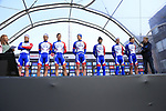 Groupama-FDJ on stage at sign on before the 2019 Gent-Wevelgem in Flanders Fields running 252km from Deinze to Wevelgem, Belgium. 31st March 2019.<br /> Picture: Eoin Clarke | Cyclefile<br /> <br /> All photos usage must carry mandatory copyright credit (© Cyclefile | Eoin Clarke)