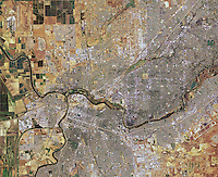 aerial photo map Sacramento, California