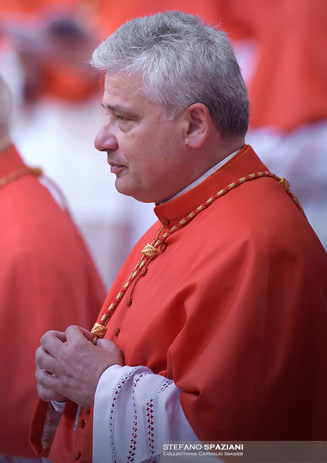 Cardinal Konrad Krajewski.Pope Francis leads a consistory for the creation of five new cardinals  at St Peter's basilica in Vatican on  June 28, 2018