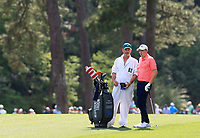 Matt Fitzpatrick (ENG) on the 14th during the 1st round at the The Masters , Augusta National, Augusta, Georgia, USA. 11/04/2019.<br /> Picture Fran Caffrey / Golffile.ie<br /> <br /> All photo usage must carry mandatory copyright credit (&copy; Golffile | Fran Caffrey)