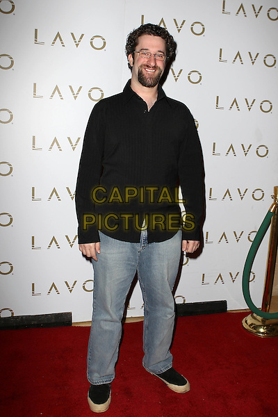 DUSTIN DIAMOND.Lavo presents National Nerd Day hosted by Dusting Diamond at LAVO Nightclub at The Palazzo Resort Casino, Las Vegas, Nevada, USA..May 25th, 2010.full length black shirt jeans denim glasses goatee facial hair .CAP/ADM/MJT.© MJT/AdMedia/Capital Pictures.