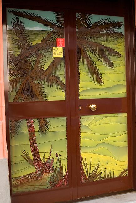 Exterior Doorway, Giacomelli Restaurant, Rome, Italy