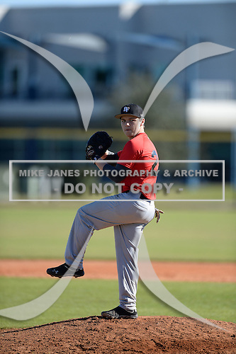 Austin Screws (21) of Decatur, Alabama participates in the Baseball Factory All-America Pre-Season Rookie Tournament, powered by Under Armour, at Lake Myrtle Sports Complex on January 18, 2014 in Auburndale, Florida.  (Copyright Mike Janes Photography)