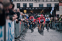 Team Lotto-Soudal returning from sign-on<br /> <br /> 106th Scheldeprijs 2018 (1.HC)<br /> 1 Day Race: Terneuzen (NED) - Schoten (BEL)(200km)