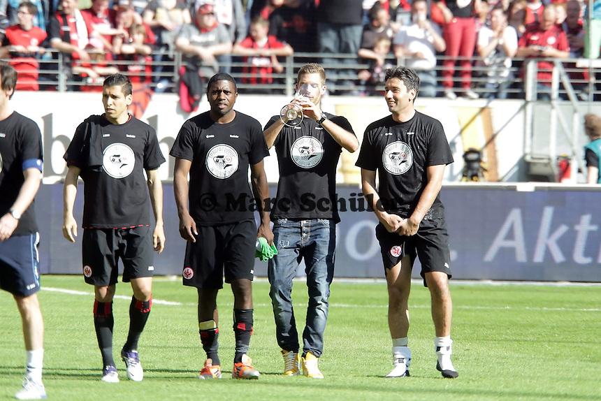 Karim Matmour, Olivier Occean, Kevin Trapp, Oka Nikolov (Eintracht)