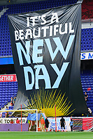 HARRISON, NJ - SEPTEMBER 29: Sky Blue FC Tifo during a game between Orlando Pride and Sky Blue FC at Red Bull Arena on September 29, 2019 in Harrison, New Jersey.