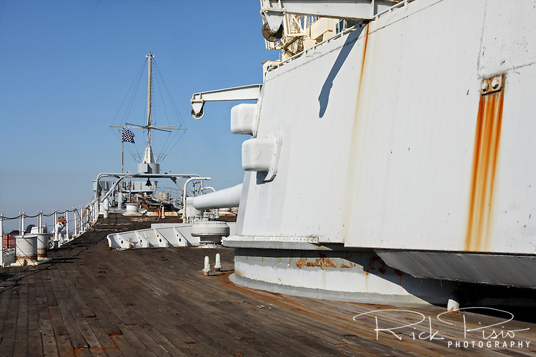USS Iowa's number one gun battery and forward deck.