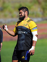 Chris Eves. Hurricanes rugby union training at Rugby League Park in Wellington, New Zealand on Wednesday, 24 January 2018. Photo: Dave Lintott / lintottphoto.co.nz