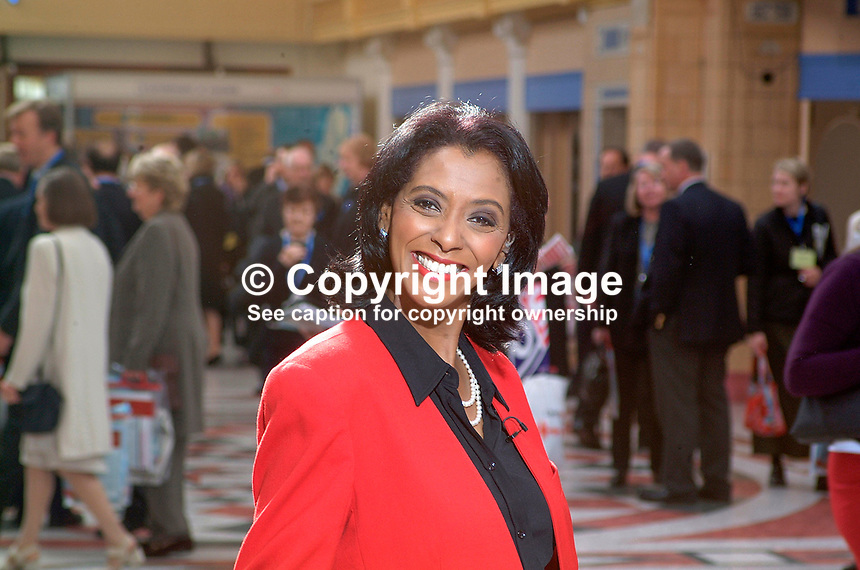Zeinab Badawi, BBC, television presenter, who specialises in politics. Black. Ref: 200110094115.<br />