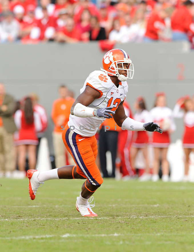 MARCUS GILCHRIST, of the Clemson Tigers, in action during the Tigers game against the North Carolina State Wolfpack on November 14, 2009 in Raleigh, NC. Clemson won 43-23.