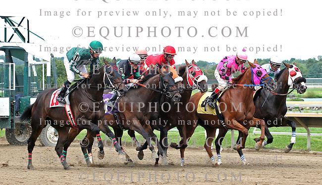 Action at Parx Racing in Bensalem, Pennsylvania August 11, 2012.  Photo By EQUI-PHOTO