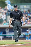 Umpire Reed Basner during a game between the Myrtle Beach Pelicans and the Winston Salem Dash at Ticketreturn.com Field at Pelicans Ballpark on July 22, 2018 in Myrtle Beach, South Carolina. Winston-Salem defeated Myrtle Beach 7-2. (Robert Gurganus/Four Seam Images)