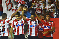 BARRANQUILLA -COLOMBIA ,20-07-2017.  Teófilo Gutiérrez  jugador del Atlético Junior celebra su gol anotado al América de Cali durante encuentro  por la fecha 3 de la Liga Aguila II 2017 disputado en el estadio Metropolitano Roberto Meléndez de Barranquilla/ Teofilo Gutierrez player of Atletico Junior celebrates his goal agaisnt of  America of Cali   during match for the date 3 of the Aguila League II 2017 played at Metropolitano Roberto Melendez in Barranquilla . Photo:VizzorImage / Alfonso Cervantes  / Cont