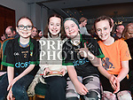 Shona Murray, Tyler Kennedy, Keela Cosgrove and Roisin Carraher at the Naomh Fionnbarra / St Annes Lip Sync in City North hotel. Photo:Colin Bell/pressphotos.ie