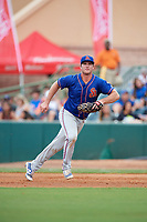 St. Lucie Mets first baseman Peter Alonso (20) breaks towards the bag during a game against the Florida Fire Frogs on July 23, 2017 at Osceola County Stadium in Kissimmee, Florida.  St. Lucie defeated Florida 3-2.  (Mike Janes/Four Seam Images)