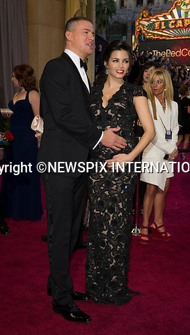 "CHANNING TATUM and JENNA DEWAN..Red Carpet arrival for the 85th Annual Academy Awards, Dolby Theatre, Hollywood, Los Angeles_23/02/2013.Mandatory Photo Credit: ©Dias/Newspix International..**ALL FEES PAYABLE TO: ""NEWSPIX INTERNATIONAL""**..PHOTO CREDIT MANDATORY!!: NEWSPIX INTERNATIONAL(Failure to credit will incur a surcharge of 100% of reproduction fees)..IMMEDIATE CONFIRMATION OF USAGE REQUIRED:.Newspix International, 31 Chinnery Hill, Bishop's Stortford, ENGLAND CM23 3PS.Tel:+441279 324672  ; Fax: +441279656877.Mobile:  0777568 1153.e-mail: info@newspixinternational.co.uk"
