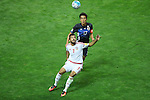 (U to D) <br /> Makoto Hasebe (JPN), <br /> Al Ahmed Mabkhout (UAE), <br /> SEPTEMBER 1, 2016 - Football / Soccer : <br /> FIFA World Cup Russia 2018 Asian Qualifier <br /> Final Round Group B <br /> between Japan 1-2 United Arab Emirates <br /> at Saitama Stadium 2002, Saitama, Japan. <br /> (Photo by YUTAKA/AFLO SPORT)