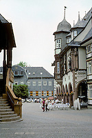 Goslar: To left, Loggia of Town Hall; to right, Kaiserworth. Photo '87.