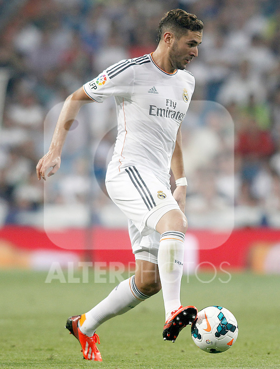 Real Madrid's Karim Benzema during La Liga match.August 18,2013. (ALTERPHOTOS/Acero)
