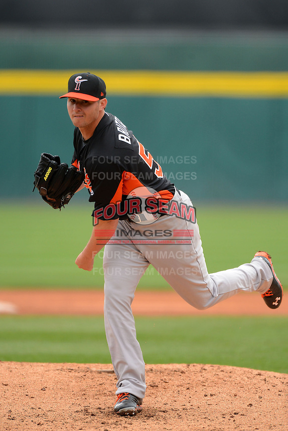Norfolk Tides pitcher Zach Britton #53 during a game against the Buffalo Bisons on May 9, 2013 at Coca-Cola Field in Buffalo, New York.  Norfolk defeated Buffalo 7-1.  (Mike Janes/Four Seam Images)