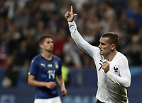 International friendly football match France vs Italy, Allianz Riviera, Nice, France, June 1, 2018. <br /> France's Antoine Griezmann celebrates after scoring during the international friendly football match between France and Italy at the Allianz Riviera in Nice on June 1, 2018.<br /> UPDATE IMAGES PRESS/Isabella Bonotto
