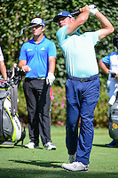 Gary Woodland  (USA) watches his tee shot on 3 during round 1 of the World Golf Championships, Mexico, Club De Golf Chapultepec, Mexico City, Mexico. 3/2/2017.<br /> Picture: Golffile | Ken Murray<br /> <br /> <br /> All photo usage must carry mandatory copyright credit (&copy; Golffile | Ken Murray)