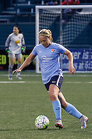 Rochester, NY - Saturday May 21, 2016: Sky Blue FC forward Leah Galton (21). The Western New York Flash defeated Sky Blue FC 5-2 during a regular season National Women's Soccer League (NWSL) match at Sahlen's Stadium.
