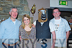 NON-RUNNER: A non runner at the fundraising  race night to b uild a new boat house for Fenit Rowing Club, on Saturday l;-r: Brian O'Sullivan, Alison Nultey, John Patton (horse costum,e) John Quilter, in The Tankard Bar & Restaurant, Kilfenora,Fenit.