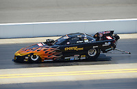 Apr. 14, 2012; Concord, NC, USA: NHRA top alcohol funny car driver Mark Rogers during qualifying for the Four Wide Nationals at zMax Dragway. Mandatory Credit: Mark J. Rebilas-