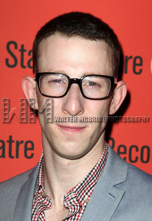 Nick Blaemire .attending the after Party for Off-Broadway Opening Night Performance of Second Stage Theatre's 'Dogfight' at HB Burger in New York City.