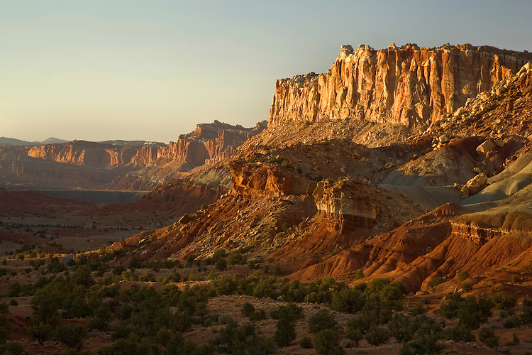 Cliffs of Waterpocket Fold in Capital Reef National Park