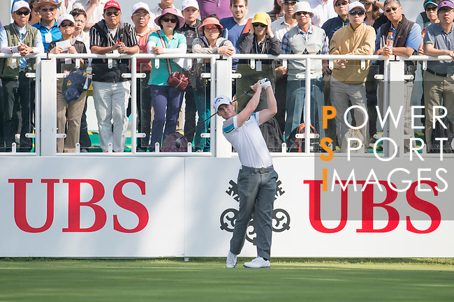 Chris Paisley of England tees off the first hole during the 58th UBS Hong Kong Golf Open as part of the European Tour on 08 December 2016, at the Hong Kong Golf Club, Fanling, Hong Kong, China. Photo by Marcio Rodrigo Machado / Power Sport Images