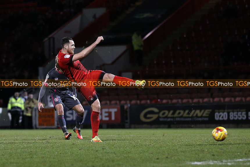 Tom Parkes of Leyton Orient goes close to a goal during Leyton Orient vs Morecambe, Sky Bet EFL League 2 Football at the Matchroom Stadium on 7th February 2017