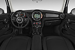 Stock photo of straight dashboard view of a 2015 MINI Cooper Hardtop S 4 Door Hatchback Dashboard