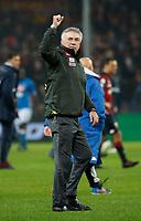 Carlo Ancelotti coach of Napoli   celebrate at the end of  Genoa -   Napoli Stadio Luigi Ferraris, Genoa, Italy; Serie A football 10th November 2018