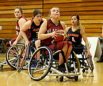 MARSHALL, MN - MARCH 15:  Selina Rousch #21 from Alabama eyes the basket against Illinois at the 2018 National Intercollegiate Wheelchair Basketball Tournament at Southwest Minnesota State University in Marshall, MN. (Photo by Dave Eggen/Inertia)