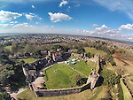 Aerial view of Caldicot Castle..31.03.13.©Steve Pope