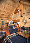 Interior of log Home.Kuhns Brothers