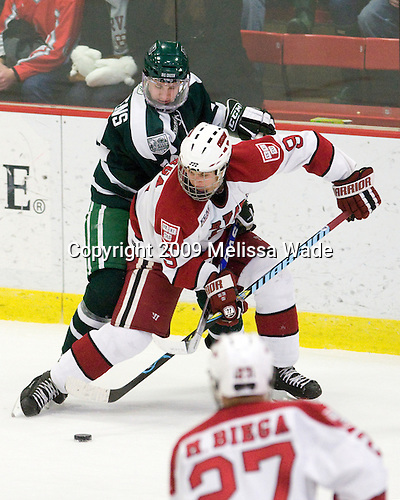 Evan Stephens (Dartmouth - 24), Danny Biega (Harvard - 9) - The Harvard University Crimson defeated the Dartmouth College Big Green 4-1 (EN) on Monday, January 18, 2010, at Bright Hockey Center in Cambridge, Massachusetts.