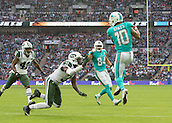 04.10.2015. Wembley Stadium, London, England. NFL International Series. Miami Dolphins versus New York Jets. Miami Dolphins Wide Receiver Kenny Stills catches the ball in the End Zone during the fourth quarter but the touch down is disallowed.