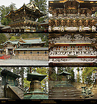 Nikko Honsha Okusha Central and Inner Shrine Yomeimon Gate to Honsha and Dragon Detail Honden Main Hall and Karamon Gate Detail Inukimon Single-cast Gate Okusha Hoto Mausoleum Pagoda for Tokugawa Ieyasu Nikko Toshogu Shrine Nikko Japan