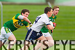 Tadhg Morley Kerry in action against Peter NAsh IT Tralee in the McGrath cup at Austin Stack Park on Sunday.