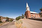 Brick Methodist Church built 1866, Austin, Nev.