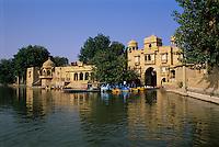 India, Rajasthan, Jaisalmer: Gadisar Lake | Indien, Rajasthan, Jaisalmer: Gadisar See