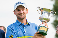 Bernd Wiesberger (AUT) during prize giving on the 18th green during the final round of the 76 Open D'Italia, Olgiata Golf Club, Rome, Rome, Italy. 13/10/19.<br /> Picture Stefano Di Maria / Golffile.ie<br /> <br /> All photo usage must carry mandatory copyright credit (© Golffile | Stefano Di Maria)