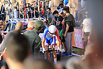 Ignatas Konovalovas (LTU) Groupama-FDJ on the San Luca climb during Stage 1 of the 2019 Giro d'Italia, an individual time trial running 8km from Bologna to the Sanctuary of San Luca, Bologna, Italy. 11th May 2019.<br /> Picture: Eoin Clarke | Cyclefile<br /> <br /> All photos usage must carry mandatory copyright credit (© Cyclefile | Eoin Clarke)